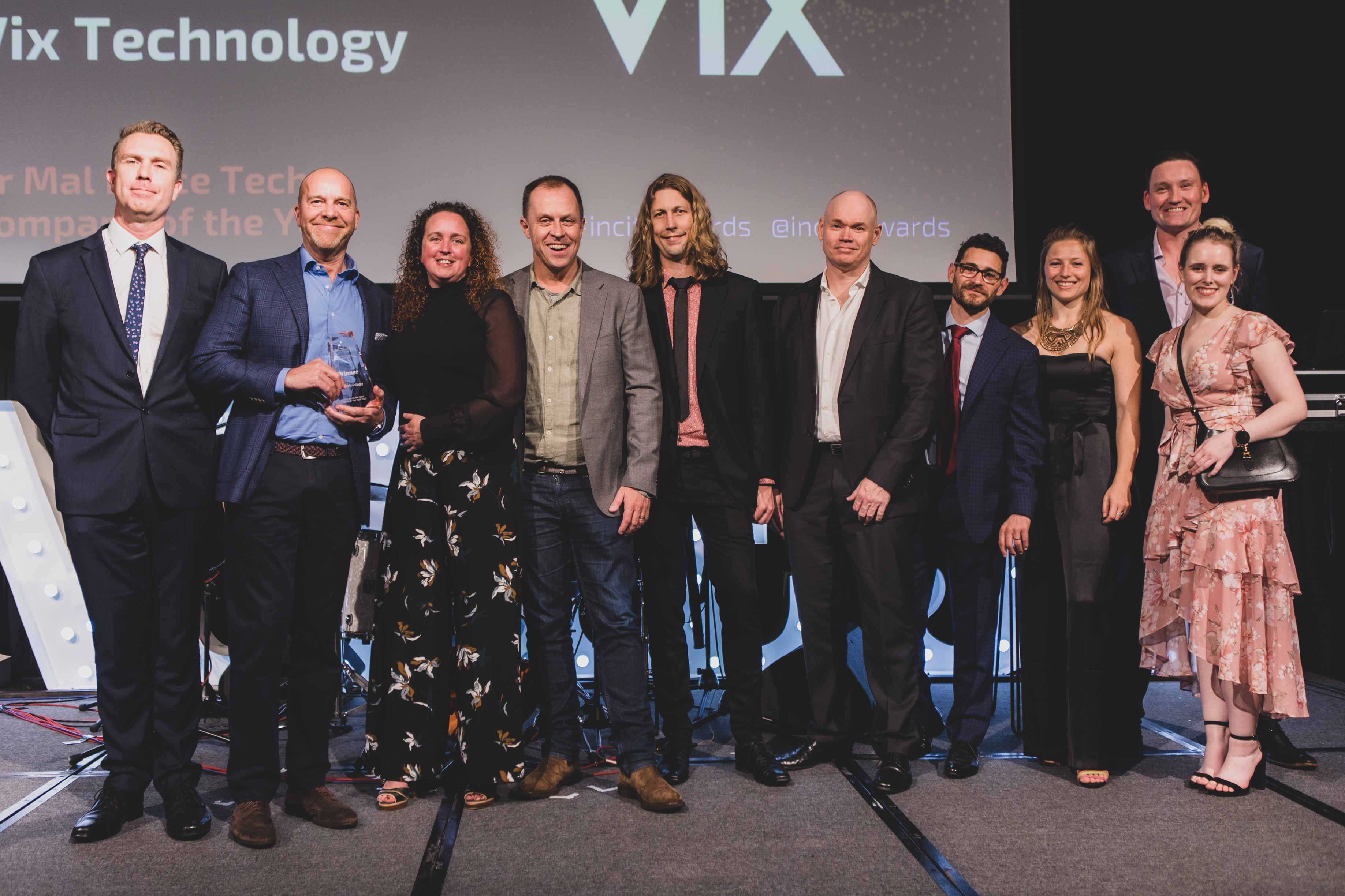 Vix Technology on stage winning an award at the 30th Incite Awards